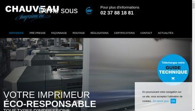 Site internet de Imprimerie Chauveau SAS - Plg Diffusion