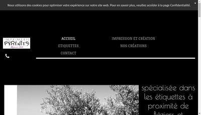 Site internet de Imprimerie des Pyrenees