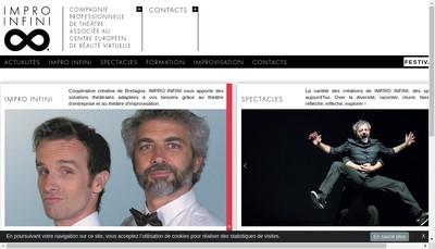 Site internet de Impro Infini
