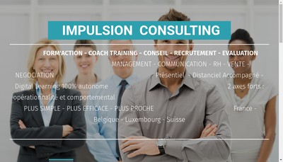 Site internet de Impulsion Consulting
