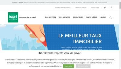 Site internet de In&Fi Credits Lons le Saunier