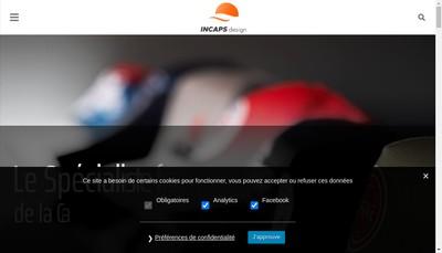 Site internet de Incaps Design