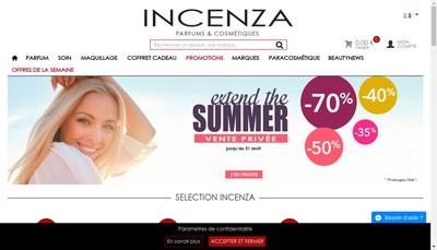 Site internet de Incenza