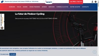 Site internet de Indoor Sports Concept