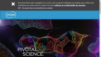 Site internet de Incyte Biosciences France