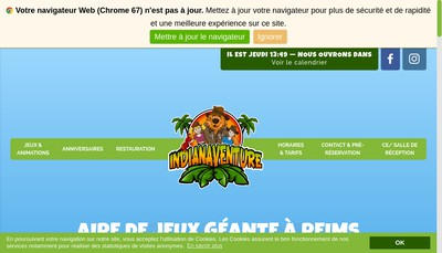 Site internet de Indianaventure