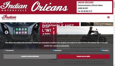 Site internet de Indian Orleans