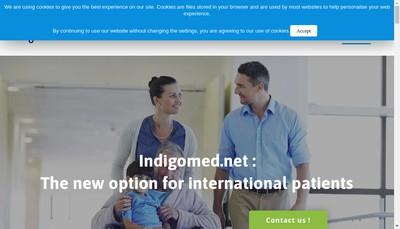 Site internet de Indigomed