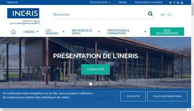 Site internet de Institut National de l'Environnement Industriel et des Risques