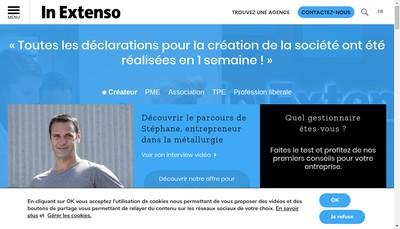 Site internet de In Extenso Centre Ouest, Ieco