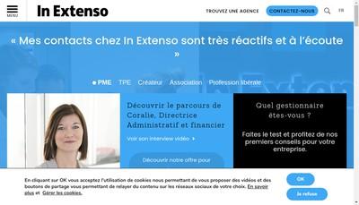 Site internet de In Extenso Ouest Atlantique C&V