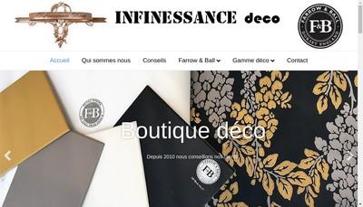 Site internet de Infinessance Deco