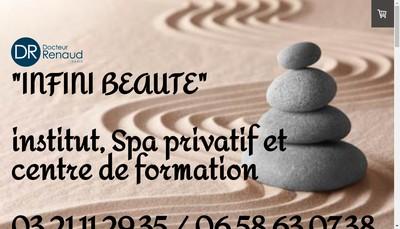 Site internet de Infini Beaute