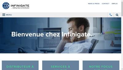 Site internet de Infinigate France SAS