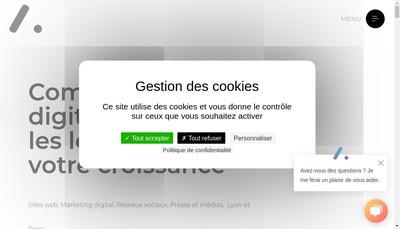 Site internet de Influactive
