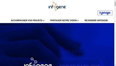 Site internet de Infogene