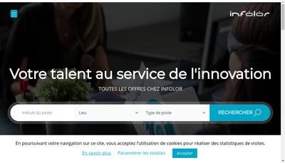 Site internet de Infolor
