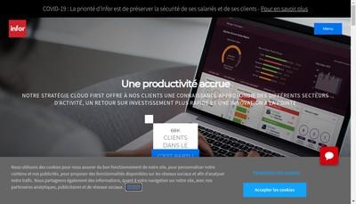Site internet de Infor (France) SAS