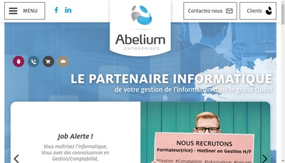 Site internet de Abelium Entreprises