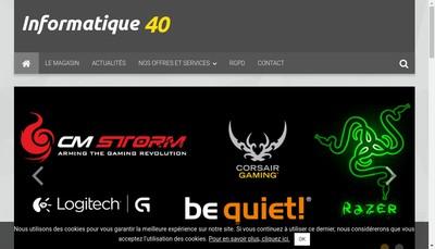 Site internet de Informatique 40