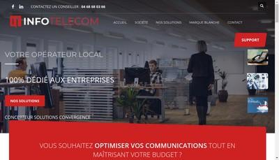 Site internet de Infotelecom
