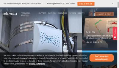 Site internet de Infovista SAS
