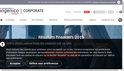 Site internet de Ingenico Prepaid Services France SAS