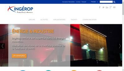 Site internet de Ingerop Conseil et Ingenierie (Ici)