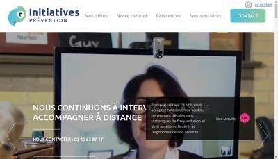 Site internet de Initiatives Prevention