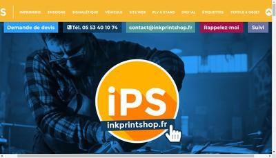 Site internet de Ink Printshop