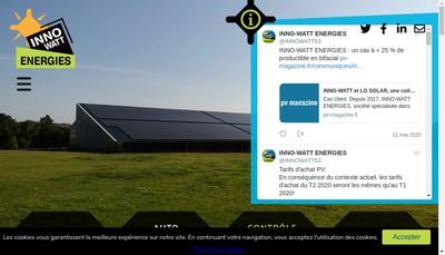 Site internet de Inno-Watt Energies