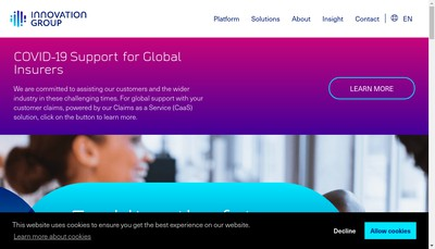 Site internet de Innovation Group Solutions