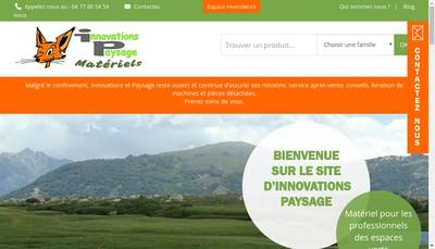 Site internet de Innovations et Paysage