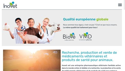 Site internet de Laboratoires Biove