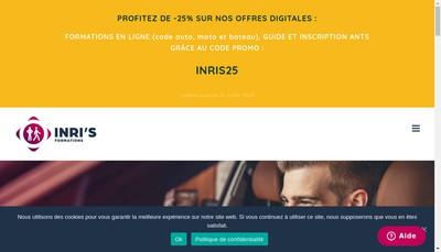 Site internet de Inris Autoecole