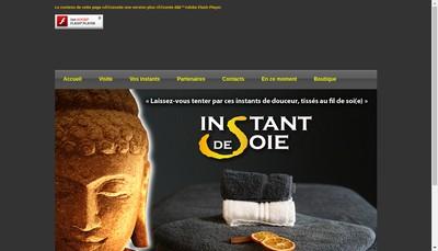 Site internet de Instant de Soie