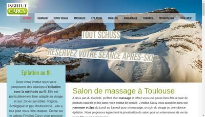 Site internet de Institut Beaute Carcy