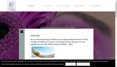 Site internet de Les 5 Saisons Esthetiques