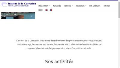 Site internet de Institut de la Corrosion