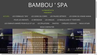 Site internet de Bambou'Spa