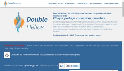 Site internet de Double Helice