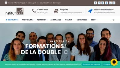 Site internet de G4 Paris