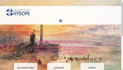 Site internet de Institut Hysope France