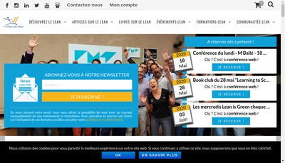Site internet de Institut Lean France