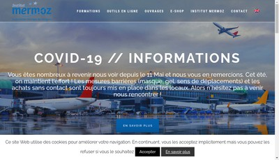 Site internet de SA Institut Aeronautique Jean Mermoz