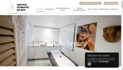 Site internet de Institut de Beaute du Sun