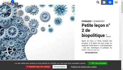 Site internet de La Societe des Actuaires