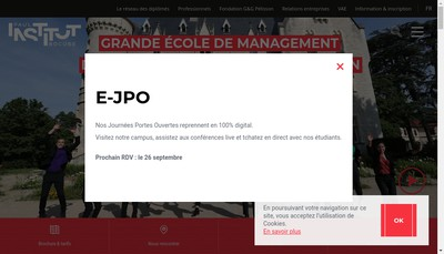 Site internet de Institut Paul Bocuse ID - Innovation et Developpement