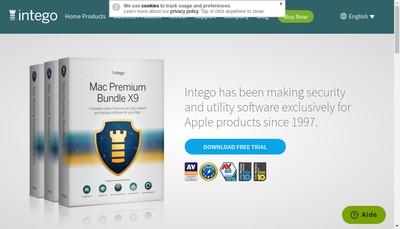Site internet de Intego