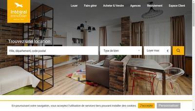 Site internet de Integral Immobilier